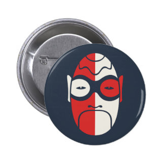 Mask on Blue Button