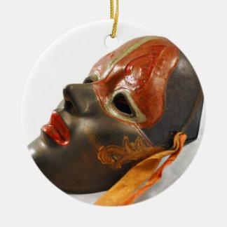 Mask Orchard Ceramic Ornament