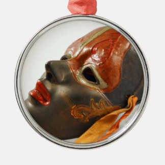 Mask Orchard Metal Ornament