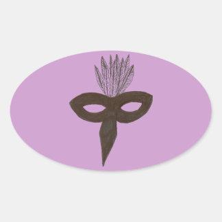 Mask Oval Sticker