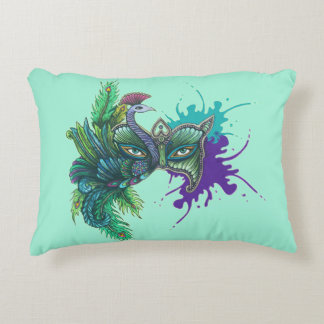 Mask - Peacock Accent Pillow