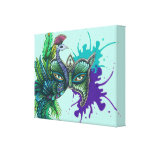 Mask - Peacock Canvas Print
