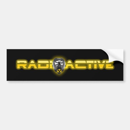 Mask Radioactive V2 Bumper Sticker