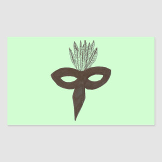 Mask Rectangular Sticker