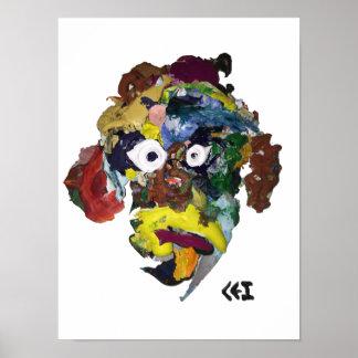 Mask, Scrap #18 print
