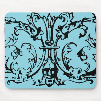 Mask Scroll Blue Mouse Pad