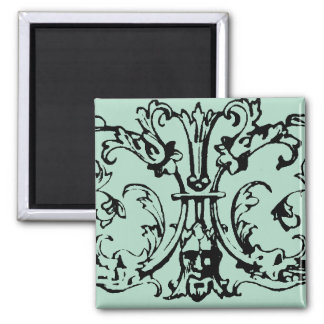 Mask Scroll Green Magnet
