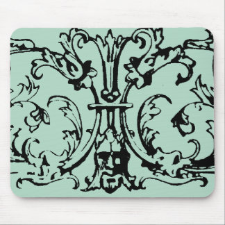 Mask Scroll Green Mouse Pad