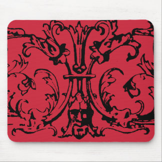 Mask Scroll Red Mouse Pad