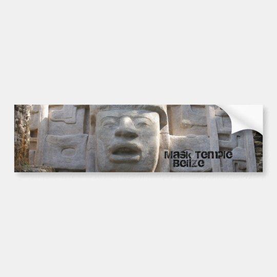 Mask Temple Bumper Sticker