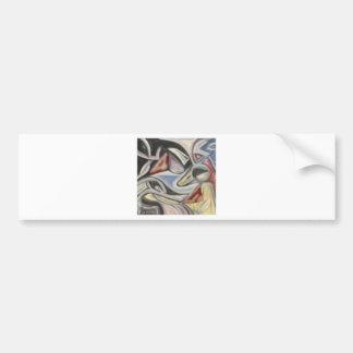 Mask Tesselation Car Bumper Sticker