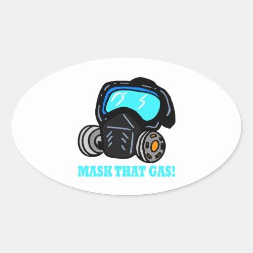 Mask That Gas Sticker
