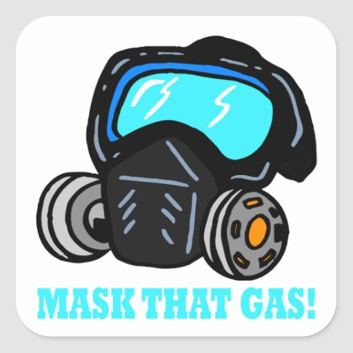 Mask That Gas Stickers