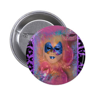 Mask venetian masquerade costume party button