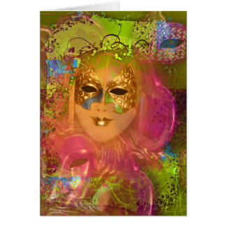 Mask venetian masquerade costume party card