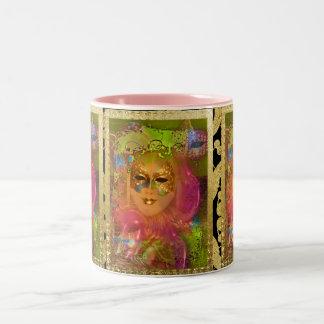 Mask venetian masquerade costume party Two-Tone coffee mug