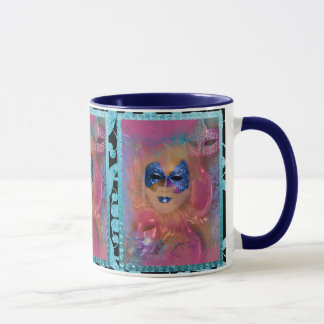 Mask venetian masquerade costume party mug