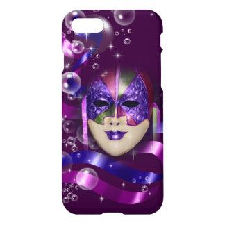 Mask venetian purple ribbons bubbles iPhone 8/7 case