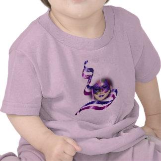 Mask venetian purple ribbons bubbles t shirt