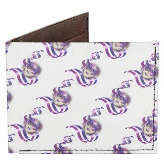 Mask venetian purple ribbons bubbles tyvek wallet