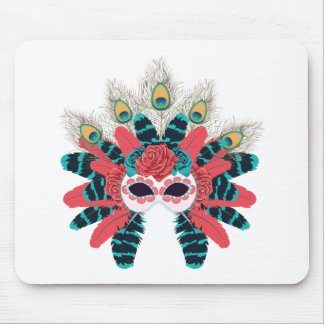 Mask with Roses and Feathers2 Mouse Pad