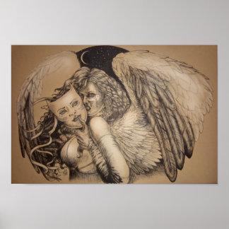 Masked Angel, by Portia St. Luke Poster