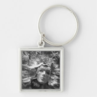 Masked Angel Silver-Colored Square Keychain