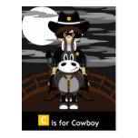 Masked Bad Cowboy & Horse Postcard