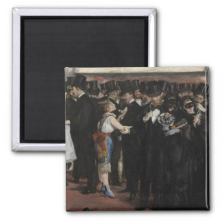 Masked Ball at the Opera, 1873 (oil on canvas) Refrigerator Magnet