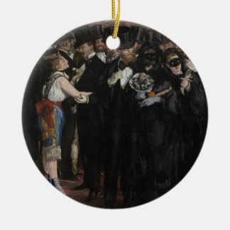 Masked Ball at the Opera, 1873 (oil on canvas) Christmas Tree Ornaments