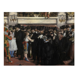 Masked Ball at the Opera, 1873 (oil on canvas) Postcard