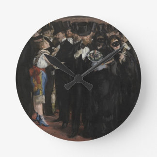 Masked Ball at the Opera, 1873 (oil on canvas) Round Clock