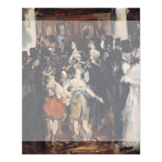 Masked Ball at the Opera by Edouard Manet Flyer