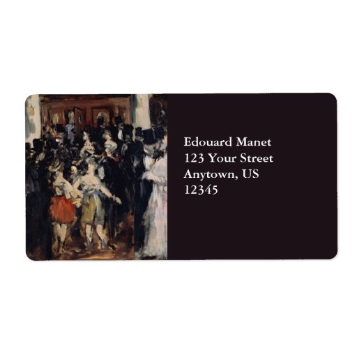 Masked Ball at the Opera by Edouard Manet Custom Shipping Labels