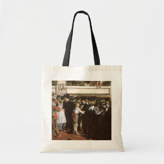Masked Ball at the Opera by Manet, Impressionism Budget Tote Bag