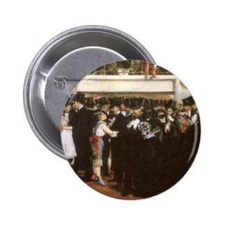 Masked Ball at the Opera by Manet, Impressionism 2 Inch Round Button