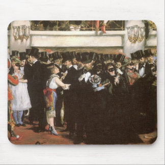 Masked Ball at the Opera by Manet, Impressionism Mouse Pad