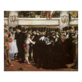 Masked Ball at the Opera by Manet, Impressionism Poster