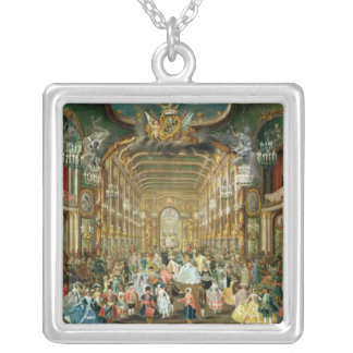 Masked Ball in the Hoftheater, Bonn, 1754 Silver Plated Necklace
