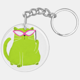 Masked Cat on a Keychain
