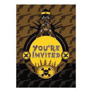 Masked Cowboy Gunslinger Invite