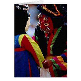 Masked dance card