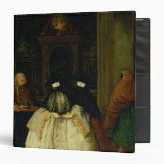 Masked Figures in a Venetian Coffee House 3 Ring Binder
