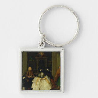Masked Figures in a Venetian Coffee House Key Chains