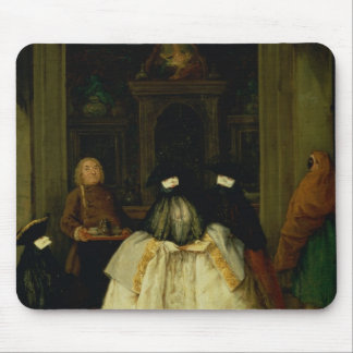 Masked Figures in a Venetian Coffee House Mouse Pad