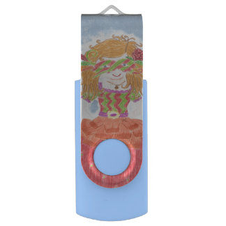 Masked girl kid USB flash drive