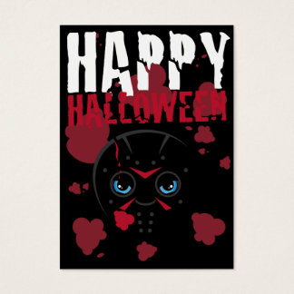 Masked Killer Halloween Bookmark Business Card