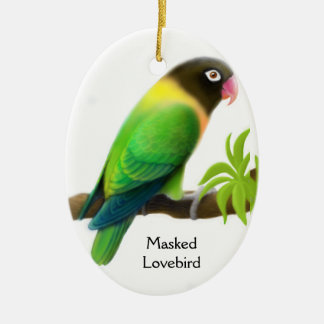 Masked Love Bird Ornament