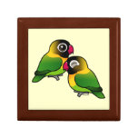Masked Lovebird Adorable Pair Jewelry Boxes