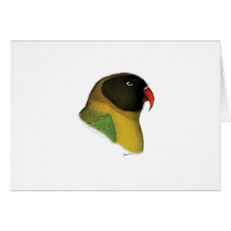 masked lovebird, tony fernandes card